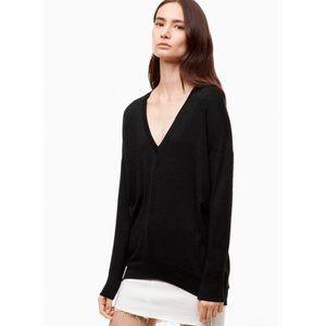Wilfred Free Devinette V-Neck Sweater Black sz S